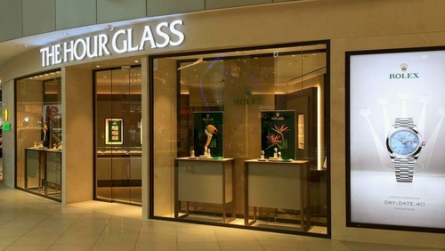 The Hour Glass watch store VivoCity Singapore.