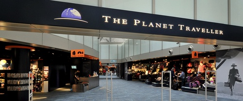 The Planet Traveller store Changi Airport Singapore.