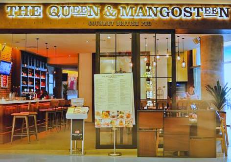 The Queen & Mangosteen gourmet pub restaurant VivoCity Singapore.