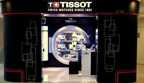 Tissot watch store Raffles City Singapore.