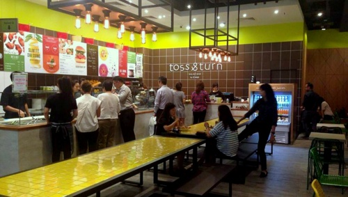 Toss & Turn salad bar restaurant VivoCity Singapore.