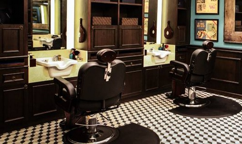 Truefitt & Hill barbershop and men's perfume shop Capitol Piazza Singapore.