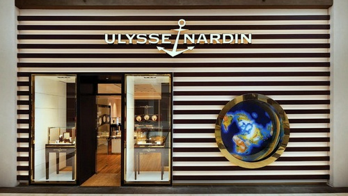 Ulysse Nardin watch store Marina Bay Sands Singapore.
