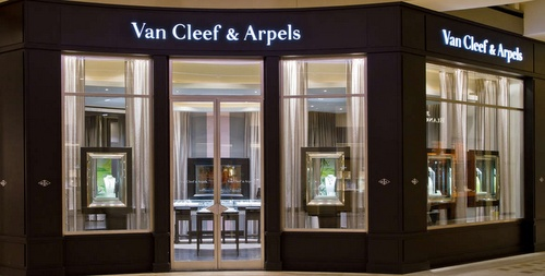 Van Cleef & Arpels watch and jewellery store Marina Bay Sands Singapore.