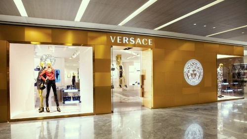 Versace clothing store in Singapore.