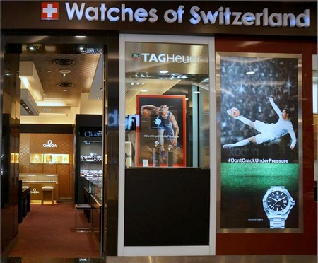 Watches of Switzerland store Tampines Mall Singapore.