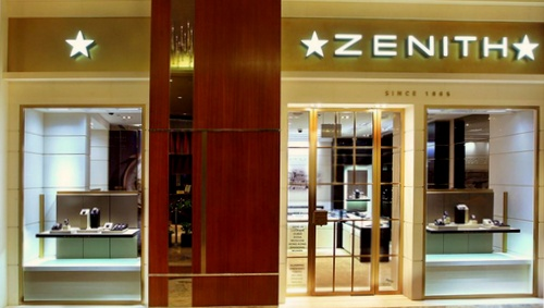 Zenith watch store The Shoppes at Marina Bay Sands Singapore.