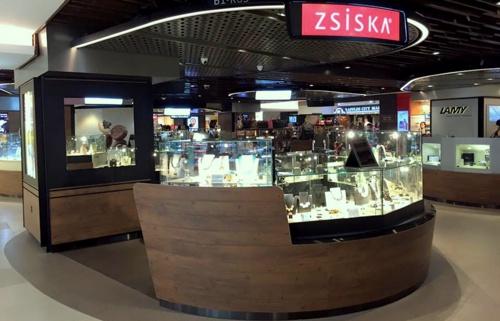Zsiska jewellery shop Raffles City Singapore.