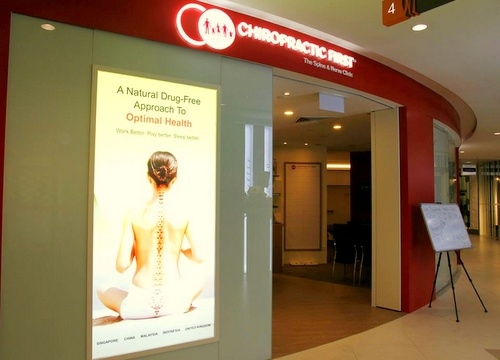 Chiropractic First clinic Plaza Singapura Singapore.