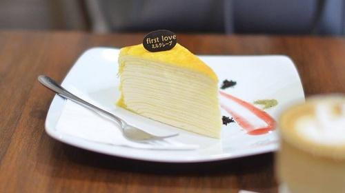 First Love Patisserie Hokkaido-style layer cake.