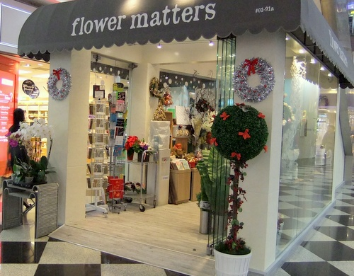 Flower Matters shop Millenium Walk Singapore.