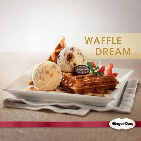 Häagen-Dazs Waffle Dream ice cream.