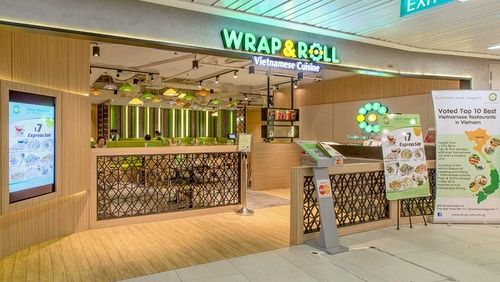 Wrap & Roll Vietnamese restaurant One@KentRidge Singapore.