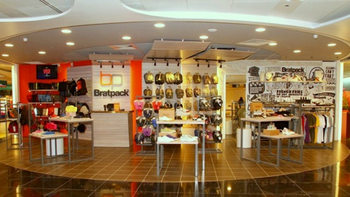 Bratpack store Changi Airport Singapore.