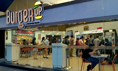 BurgerUp fast food burger restaurant Yishun 10 Singapore.