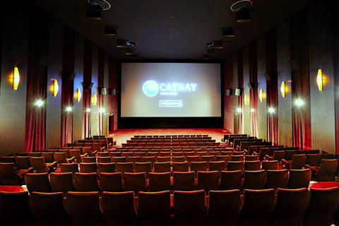 Cathay Cineplexes movie theater Singapore.