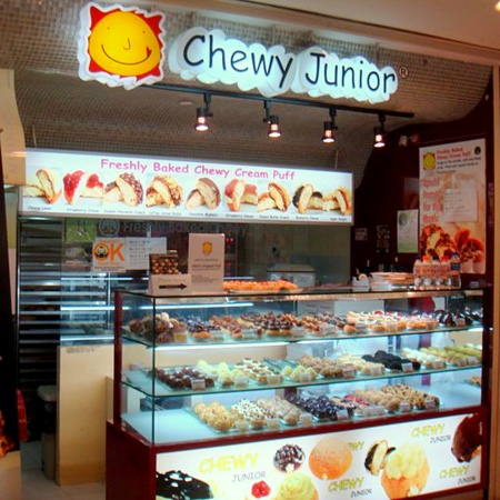 Chewy Junior cream puff shop Singapore.