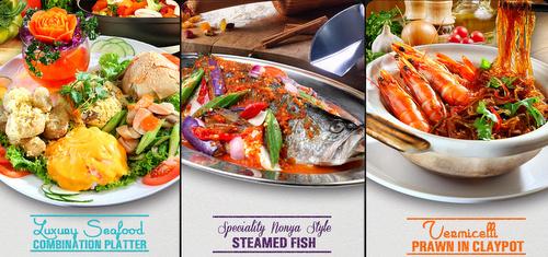 Crab Corner restaurant's seafood dishes Singapore.