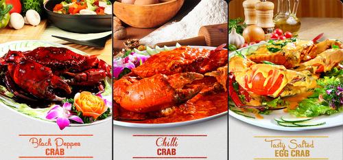 Crab Corner's signature seafood meals Singapore.