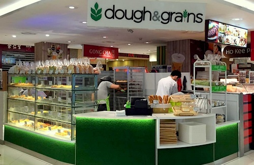 Dough & Grains bakery store Lot One Shopper's Mall Singapore.