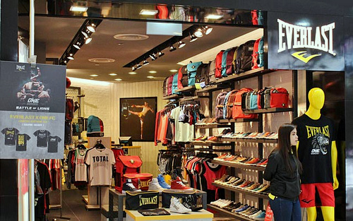 Everlast store Century Square Singapore.