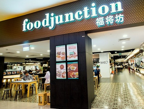 Food Junction food court Great World City Singapore.