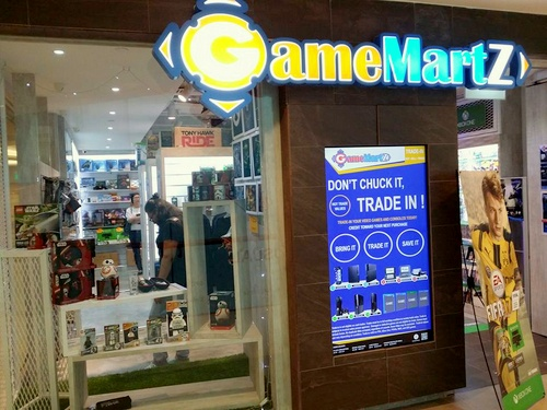 GameMartz video game store Plaza Singapura Singapore.