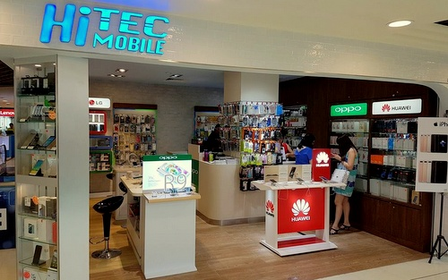 Hi-Tec Mobile shop Bugis Junction Singapore.