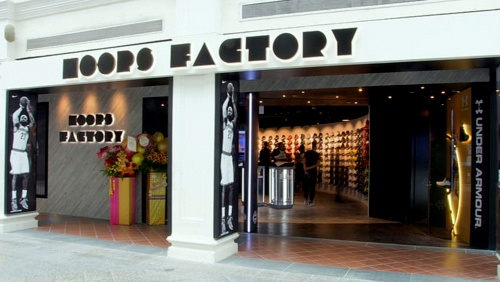 Hoops Factory store Bugis Junction Singapore.
