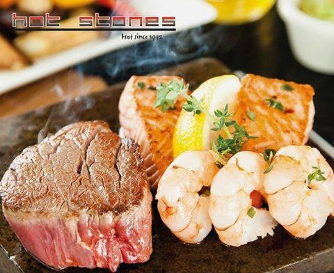 Hot Stones Steak and Seafood Restaurant meal Singapore.
