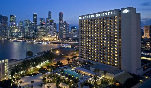 Mandarin Oriental, Singapore hotel.