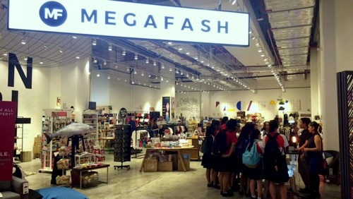 Megafash design store Suntec City Singapore.