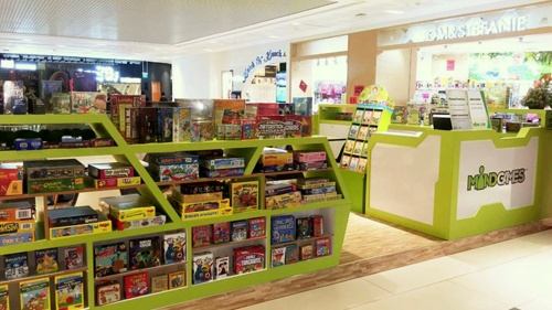Mind Games board game store Westgate Singapore.