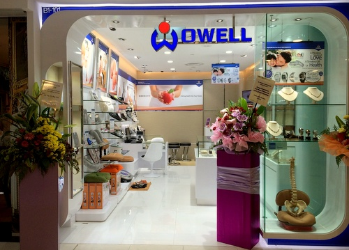 Owell Bodycare store Parkway Parade Singapore.