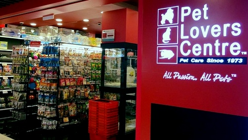 Pet Lovers Centre shop Hougang Mall Singapore.