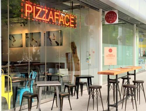 PizzaFace pizzeria Concourse Skyline Singapore.