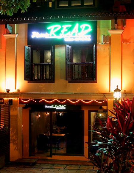 Place to Read restaurant Singapore.