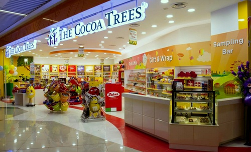 The Cocoa Trees chocolate shop Suntec City Singapore.