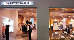 The Editor's Market clothing store Cathay Cineleisure Orchard Singapore.