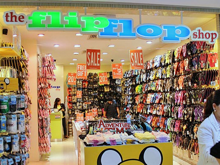 The Flip Flop Shop Hougang Mall Singapore.