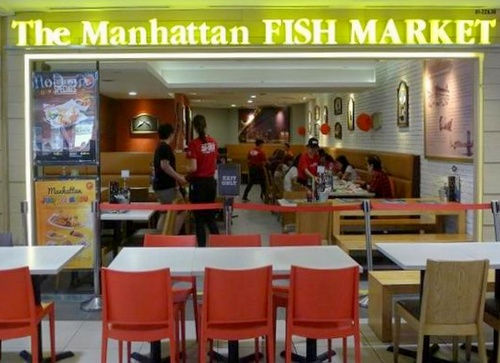 The Manhattan FISH MARKET seafood restaurant Singapore.