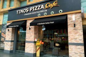 Tino's Pizza Café Resorts World Sentosa Singapore.