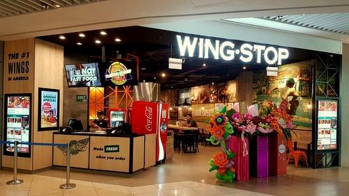 Wingstop chicken restaurant Suntec City Singapore.