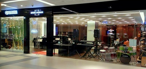 Yamaha musical instrument store Westgate Mall Singapore.