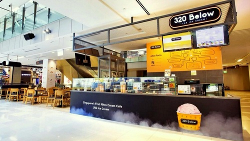 320 Below ice cream cafe Singapore.