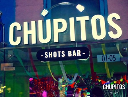 Chupitos Shots Bar Clarke Quay Singapore.