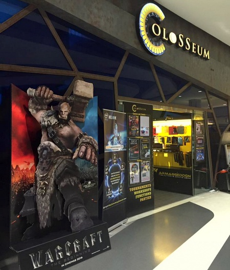 Colosseum esports club & gaming store Bugis Plus Singapore.