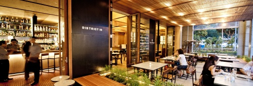 District 10 Bar & Restaurant Singapore.