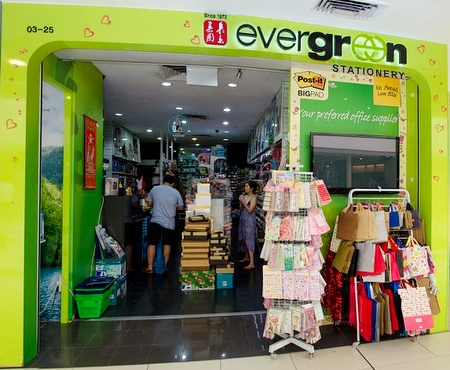 Evergreen Stationery store Parkway Parade Singapore.