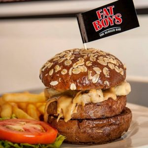 Fatboy's The Burger Bar The Elvis hamburger meal Singapore.